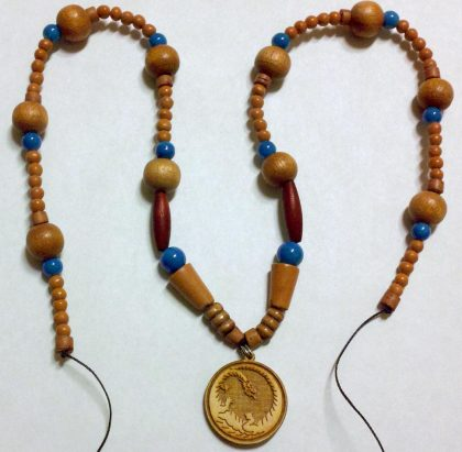 Wood Dragon Necklace